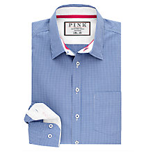Buy Thomas Pink Longitude Check Slim Fit Shirt, Blue Online at johnlewis.com