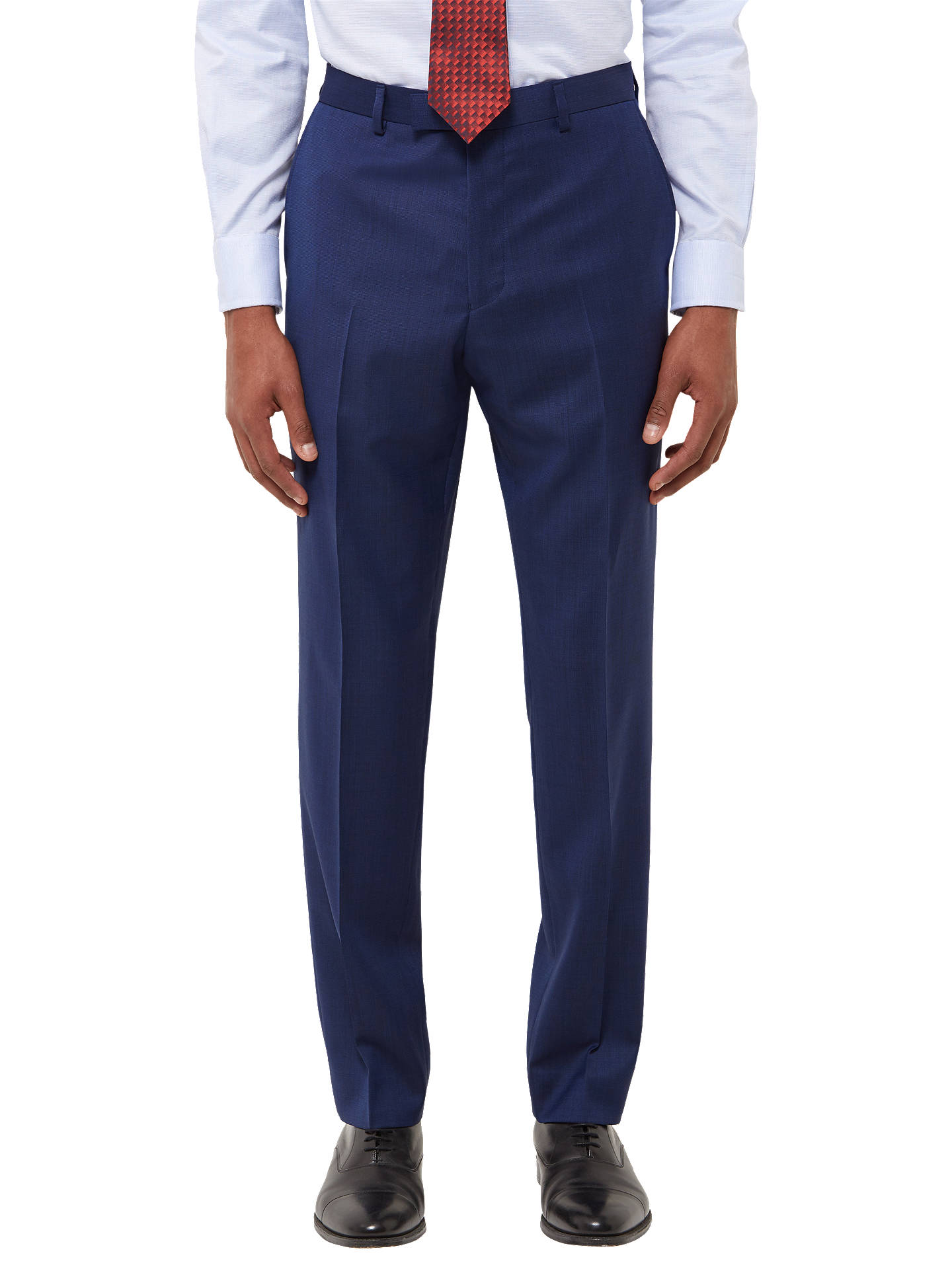 BuyJaeger Wool Twill Slim Fit Suit Trousers, Royal Blue, 30R Online at johnlewis.com