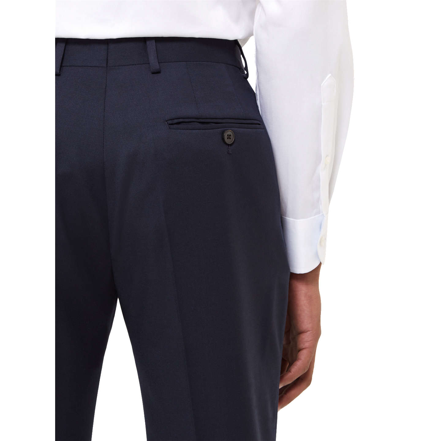 BuyJaeger Wool Twill Slim Fit Suit Trousers, Navy, 30R Online at johnlewis.com