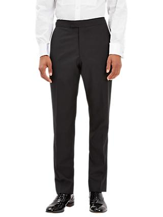 Jaeger Wool Mohair Regular Fit Dress Suit Trousers, Black