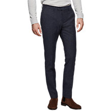 Buy Reiss Function Fleck Weave Trousers, Navy Online at johnlewis.com