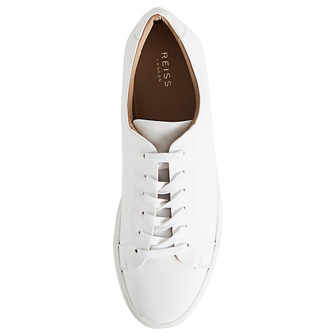 Buy Reiss Darren Contrast Sole Leather Trainers Online at johnlewis.com