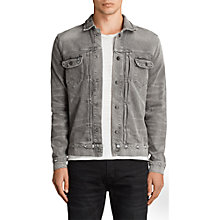 Buy AllSaints Ginan Denim Jacket, Grey Online at johnlewis.com
