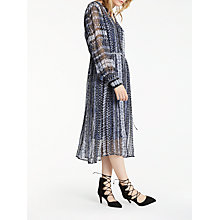 Buy AND/OR Megan Water Print Dress, Blue/Multi Online at johnlewis.com