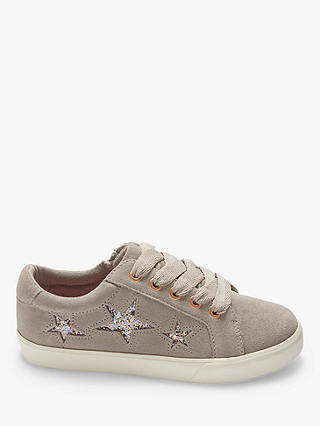Buy John Lewis & Partners Children's Paige Star Trainers, Grey/Purple, 13 Jnr Online at johnlewis.com