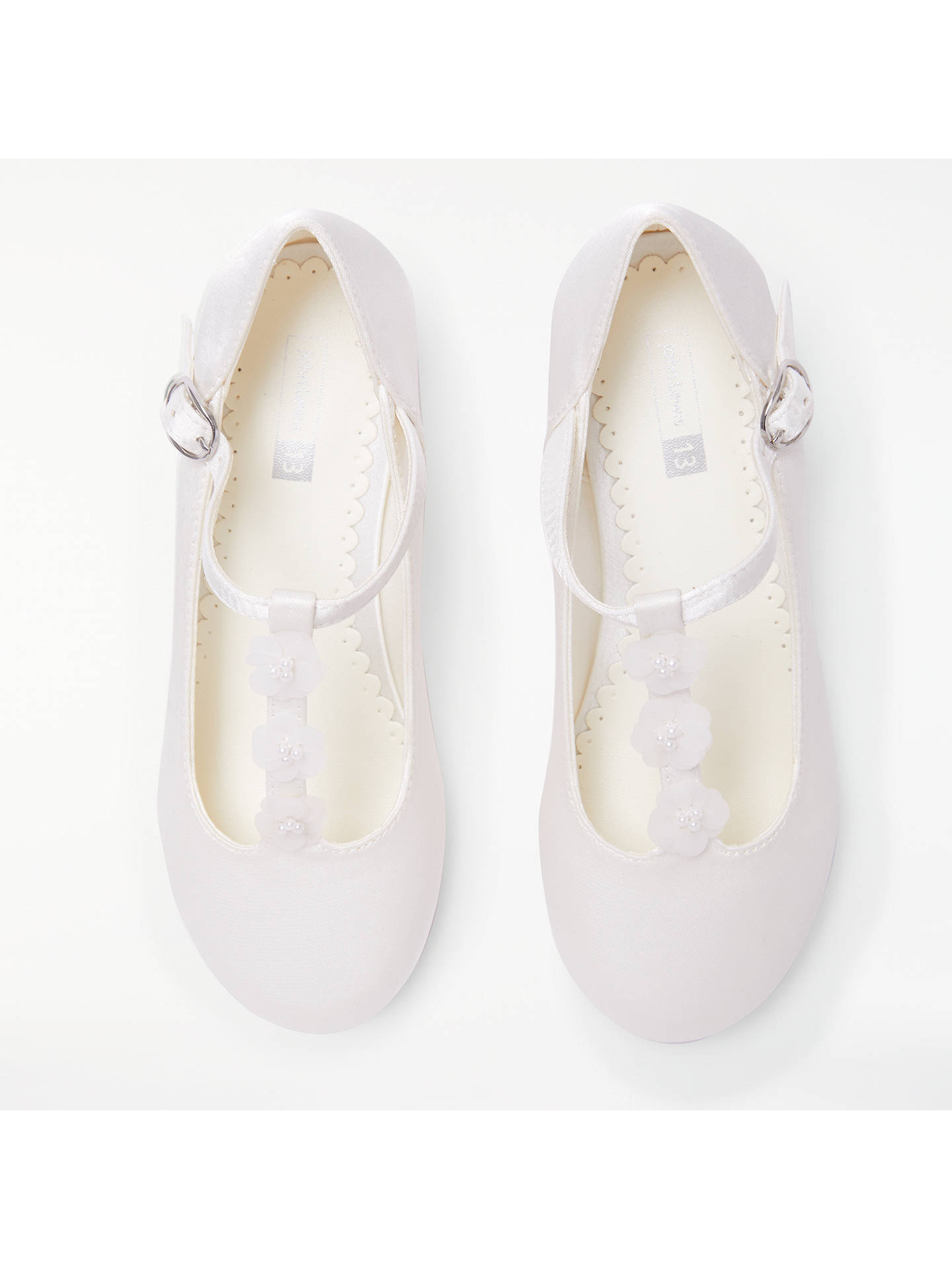 BuyJohn Lewis & Partners Children's Flower Detail Heeled Bridesmaid Shoes, Ivory, 1 Online at johnlewis.com