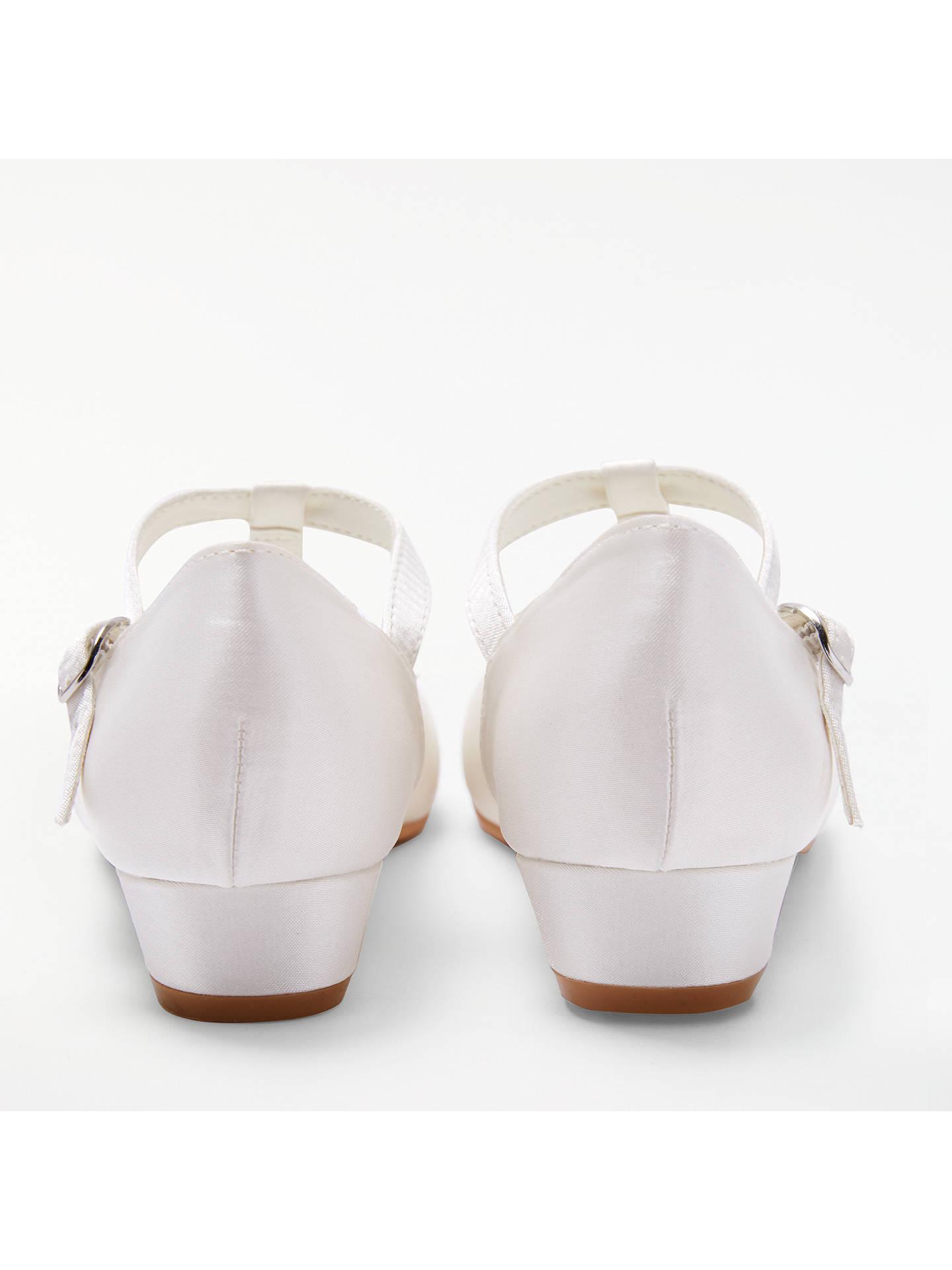 c6b664f313a9 ... Buy John Lewis   Partners Children s Flower Detail Heeled Bridesmaid  Shoes