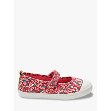Buy John Lewis Children's Denim Floral Mary Jane Pumps, Pink Online at johnlewis.com
