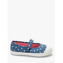 Buy John Lewis Children's Denim Butterfly Mary Jane Pumps, Blue Online at johnlewis.com