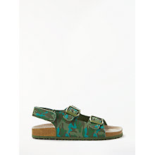 Buy John Lewis Children's Camo Riptape Sandals, Khaki Online at johnlewis.com