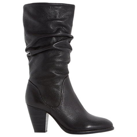 Buy Dune Rossy Slouch Calf Boots, Black Online at johnlewis.com