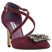 Buy Dune Deeana Cross Strap Embellished Court Shoes, Berry Online at johnlewis.com