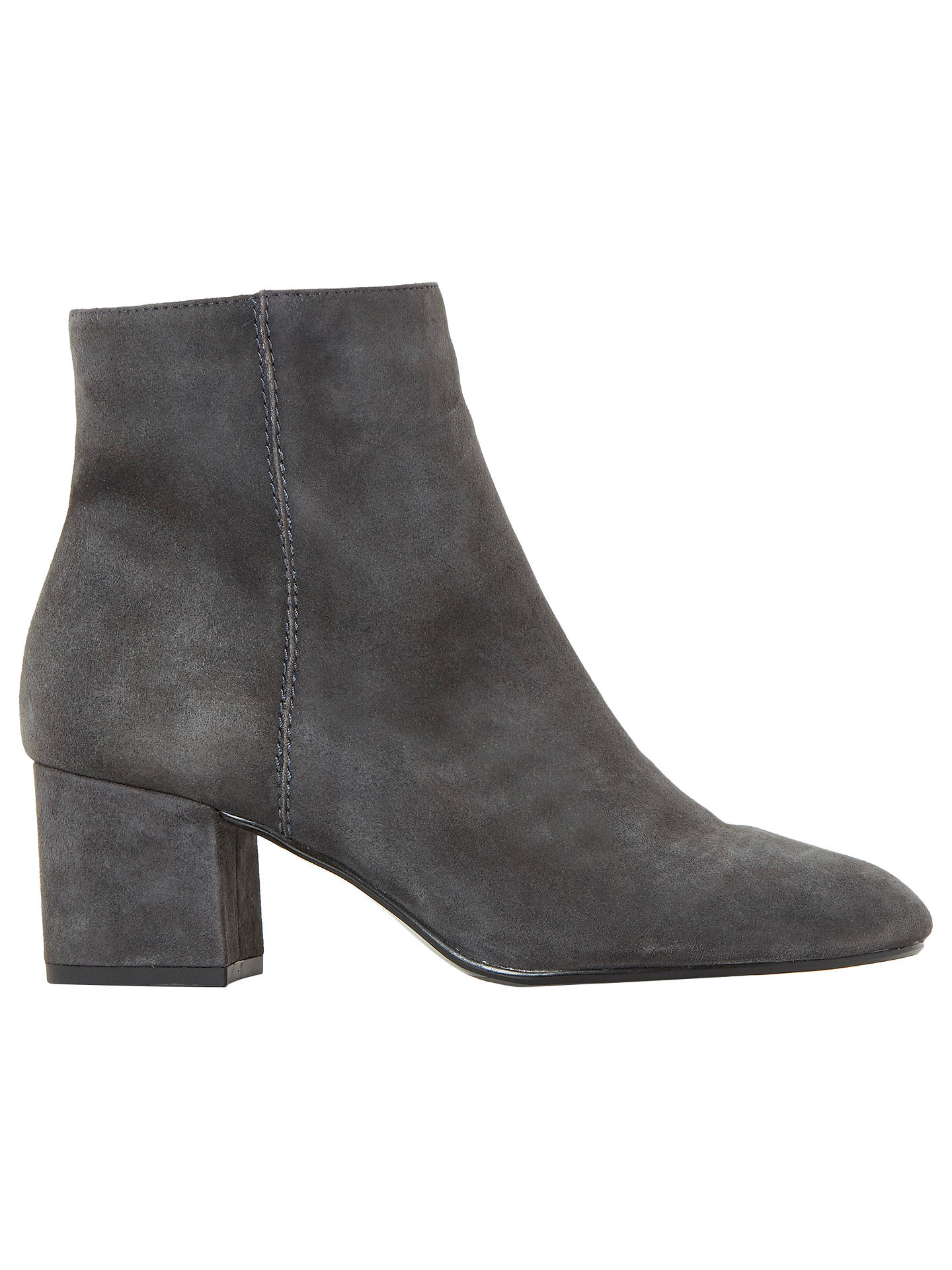 8c1e7dfc322 Dune Olyvea Block Heeled Ankle Boots, Grey Suede at John Lewis ...
