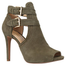 Buy MICHAEL Michael Kors Blaze Peep Toe Ankle Boots, Khaki Online at johnlewis.com