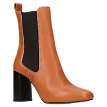 Buy Kurt Geiger Damsel Block Heeled Ankle Chelsea Boots, Tan Online at johnlewis.com