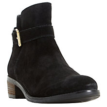 Buy Dune Pheobie Block Heeled Ankle Chelsea Boots, Black Online at johnlewis.com