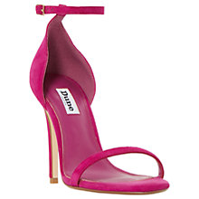 Buy Dune Mwah Diamante Stiletto Heeled Sandals, Pink Suede Online at johnlewis.com
