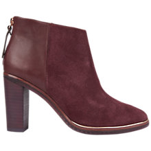 Buy Ted Baker Azaila Block Heeled Ankle Boots, Burgundy Online at johnlewis.com