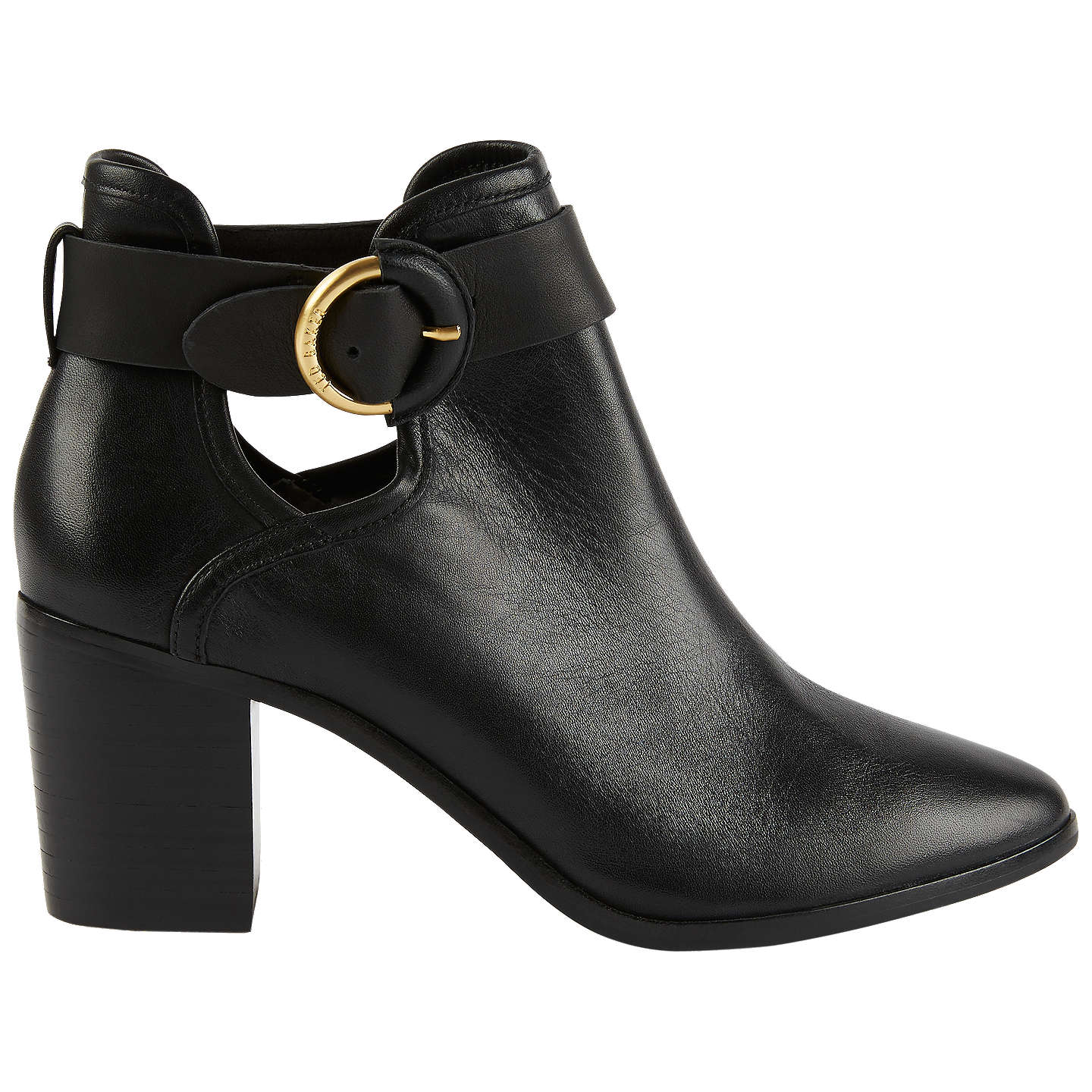 BuyTed Baker Sybell Block Heeled Ankle Boots, Black, 7 Online at  johnlewis.com ...