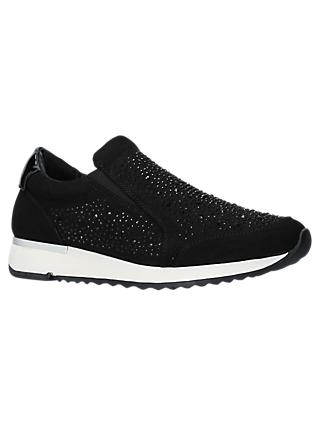 Carvela Jazz Embellished Slip On Trainers, Black
