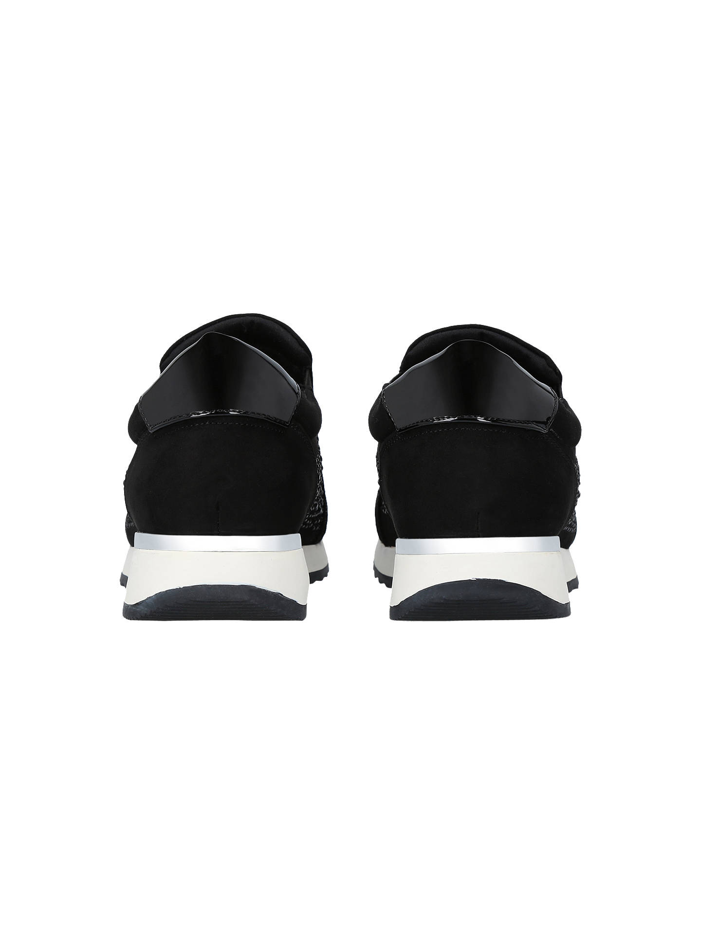 Buy Carvela Jazz Embellished Slip On Trainers, Black, 3 Online at johnlewis.com
