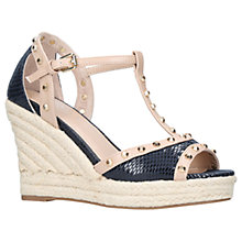 Buy Carvela Stark Wedge Heeled Peep Toe Sandals Online at johnlewis.com