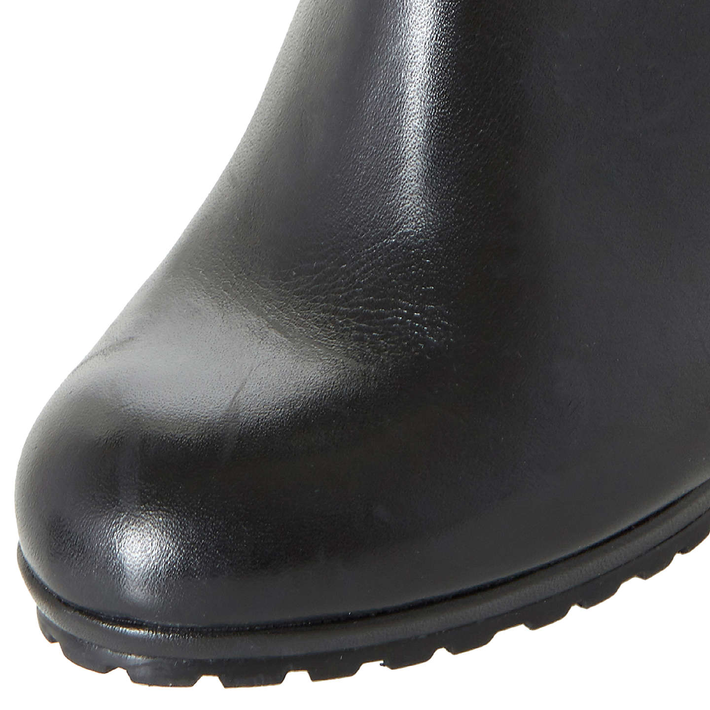 BuyDune Sebb Knee High Boots, Black, 3 Online at johnlewis.com