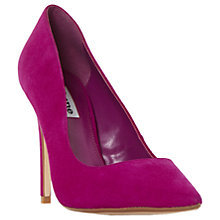 Buy Dune Be Dazzled Diamante Court Shoes, Pink Suede Online at johnlewis.com