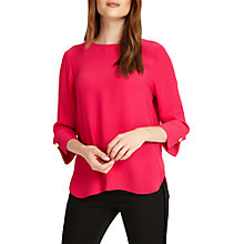 Buy Phase Eight Bettie Cuff Blouse, Decadent Pink Online at johnlewis.com