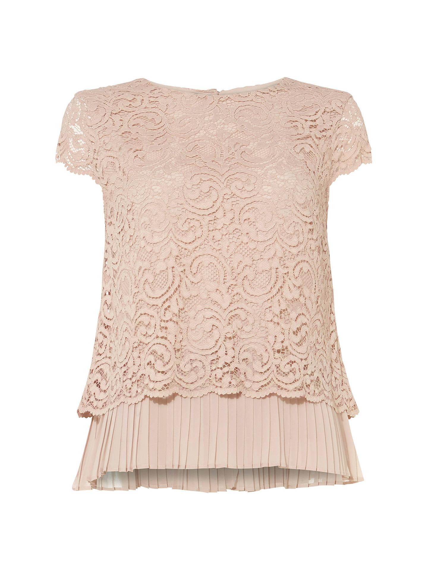 c0dabca3aca623 Buy Phase Eight Lexie Lace Blouse, Blush, 8 Online at johnlewis.com ...