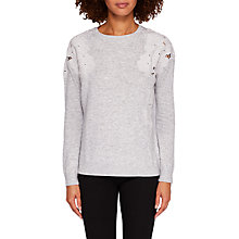 Buy Ted Baker Yizelda Lace Detail Jumper, Grey Online at johnlewis.com