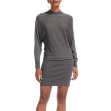 Buy Whistles Annie Sparkle Textured Knit Dress, Grey Marl Online at johnlewis.com