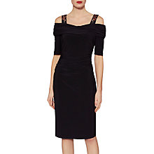 Buy Gina Bacconi Lona Embroidered Strap Dress, Black Online at johnlewis.com