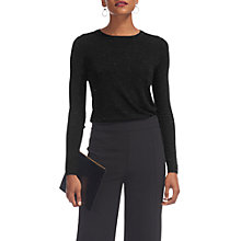 Buy Whistles Annie Sparkle Knit Jumper, Black Online at johnlewis.com