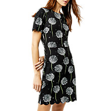 Buy Warehouse Dandelion Print Dress, Black Pattern Online at johnlewis.com