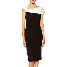 Buy Gina Bacconi Dido Monochrome Dress, Black/Chalk Online at johnlewis.com