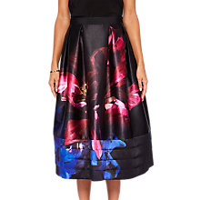 Buy Ted Baker Nuala Impressionist Bloom Skirt, Black/Multi Online at johnlewis.com