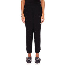 Buy Ted Baker Bobbii Embellished Tapered Joggers, Black Online at johnlewis.com