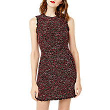 Buy Warehouse Victoria Tweed Dress, Bright Red Online at johnlewis.com