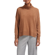 Buy Whistles Cashmere Rib Back Roll Neck Jumper Online at johnlewis.com