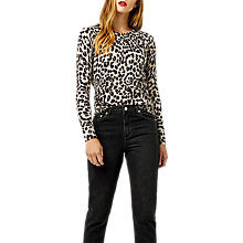Buy Warehouse Animal Print Jumper, Grey Pattern Online at johnlewis.com