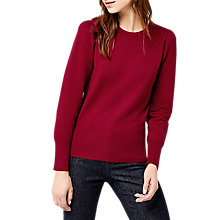 Buy Warehouse Puff Sleeve Jumper, Bright Red Online at johnlewis.com