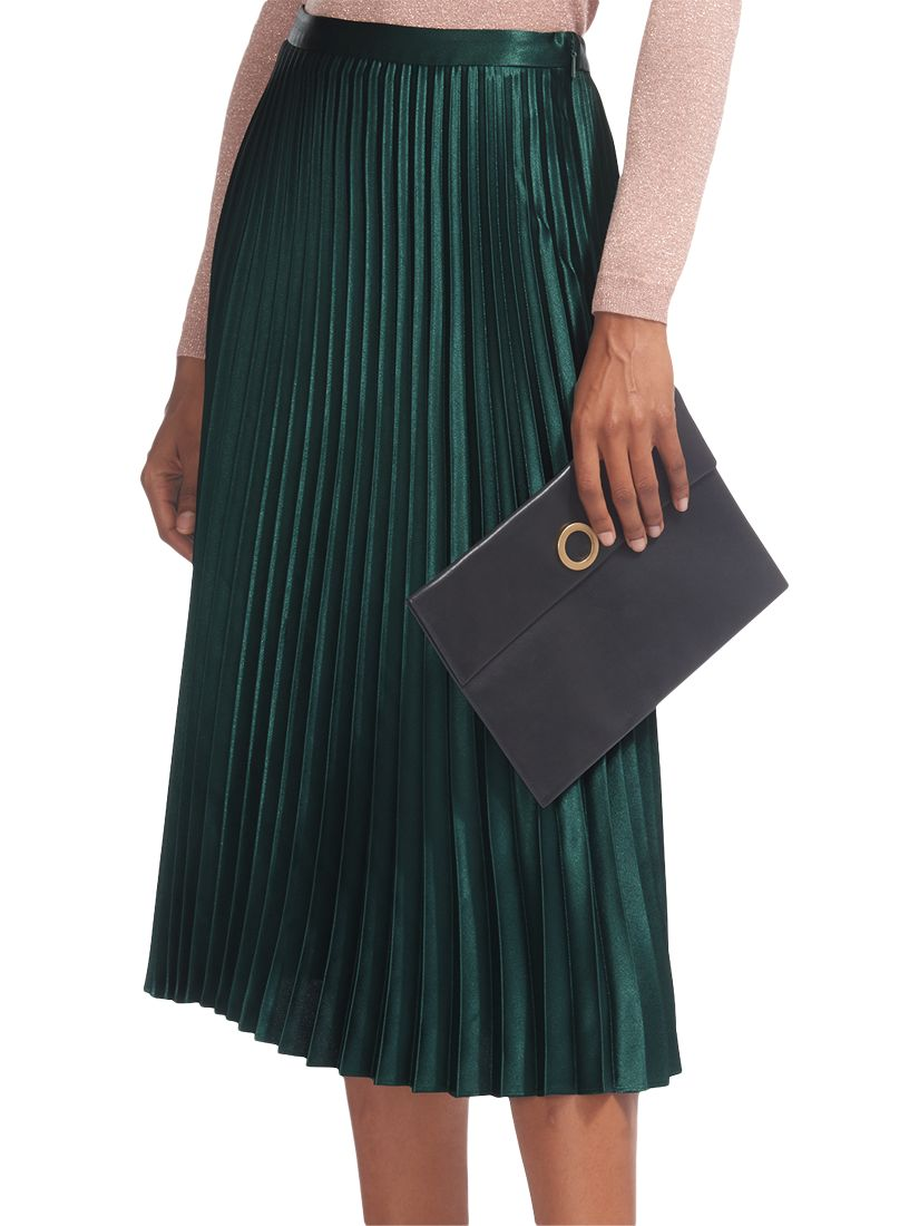 99f9bf5c91 Whistles Green Pleated Midi Skirt – DACC