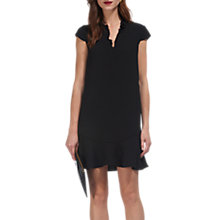 Buy Whistles Frederica Frill V-Neck Dress, Black Online at johnlewis.com