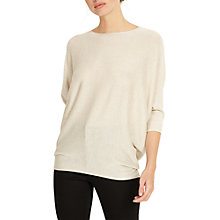 Buy Phase Eight Becca Batwing Shimmer Jumper, Oyster Online at johnlewis.com