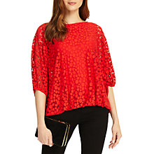 Buy Phase Eight Sandra Spot Burnout Blouse Top Online at johnlewis.com