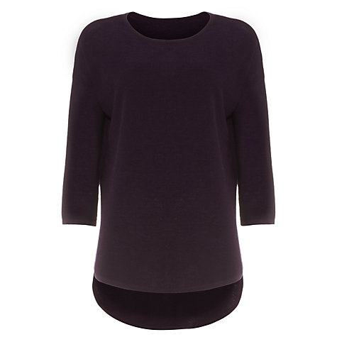 Buy Phase Eight Megg Curve Hem Jumper, Deadly Nightshade Online at johnlewis.com