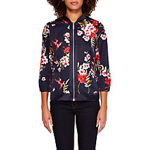 Buy Ted Baker Hemma Blossom Jacquard Bomber Jacket, Navy/Multi Online at johnlewis.com