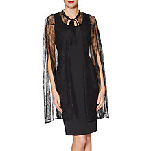 Buy Gina Bacconi Giselle Lace Cape, Black Online at johnlewis.com