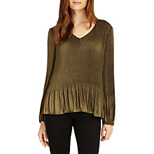 Buy Phase Eight Ella Pleated Long Sleeve Blouse Online at johnlewis.com